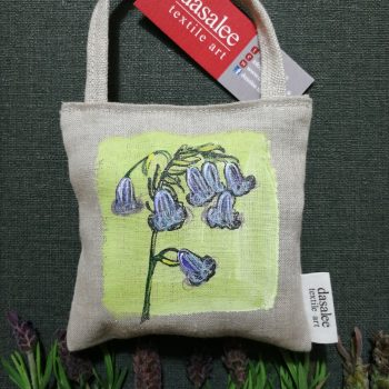 Dasalee Hand Painted bluebell lav bag