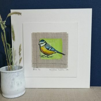 Dasalee Hand Painted blue tit