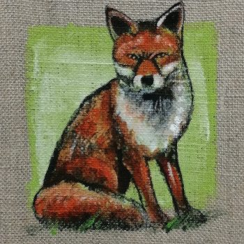 Dasalee Hand Painted Fox
